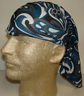 black turquoise swirl chemo therapy hair loss head wrap cover turban scarf wig