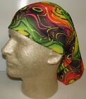 neon rainbow green pink chemo therapy hair loss head wrap cover turban scarf wig