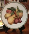 Fitz & Floyd BELLE CLASSIQUE Peach, Pear and Plum Plate - MINT - 4 ava.