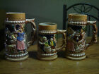 Vintage Lot of 3 Different Japanese Pictoral Beer Steins Tankards Mugs