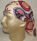 tan dusty rose paisley chemo therapy hair loss head wrap cover turban scarf wig