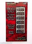 FANTASY MAKERS NAIL ART APPLIQUES STICKERS STRIPS BLACK STARS MANICURE 16 ct NEW