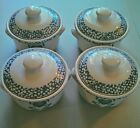 CORELLE COORDINATES BLUE HEARTS CROCK BEAN POT SOUP POT SET OF 4 BOWLS