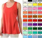 Womens Cotton Loose Fit Tank Top Relaxed Flowy Basic Sleeveless Shirt S M L