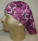 purple black white link chemo therapy hair loss head wrap cover turban scarf wig