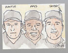 MICKEY MANTLE WILLIE MAYS SNIDER 2O12 LEAF BEST OF BASEBALL SKETCH CARD #1 1