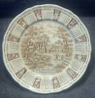 MINT YEAR 1973 CALENDAR 9'' COLLECTORS PLATE ALFRED MEAKIN STAFFORDSHIRE ENGLAND