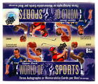 2011 UPPER DECK WORLD OF SPORTS SEALED HOBBY BOX auto michael jordan tiger woods