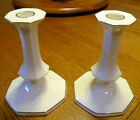 Mikasa Candle Holders Tall Ivory Colored b2001 Narumi Japan
