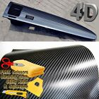 48 x 60 Premium 4D Gloss Black Carbon Fiber Vinyl Wrap Bubble Free Air Release