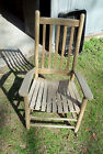 ANTIQUE WEATHERED WOOD ROCKING CHAIR (MISSING ROCKERS) CHIPPY