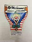 Williams Cyclone Clown Sticker Promotional Arcade Collectible NOS #1403