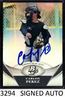 1-2011 BOWMAN PLATINUM REFRACTOR SIGNED AUTO CARLOS PEREZ ANGELS QTY IN PERSON