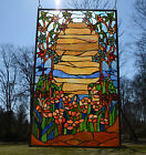 2075 x 3450 Handcrafted stained glass window panel Desert Dawn
