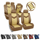 Synthetic Leather Full Set Auto Seat Covers Air Bag Safe  Split Bench Ready