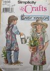 Simplicity 7856 Girl's Daisy Kingdom Apron Sewing Pattern S M L 4-6 8-10 12-14