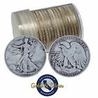 90 Silver Walking Liberty Half Dollars Roll of 20 10 Face Value Circulated