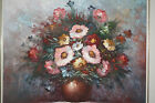 Robert Cox Oil On Canvas Flower Vase Still Life Painting Impasto Signed Floral