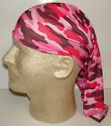 pink camo camoflauge chemo therapy hair loss head wrap cover turban scarf wig