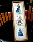 Picture Hand Painted & Embroidered Signed 3 Spanish Dancers Bull Fighter 6