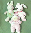 3 Baby plush My First EASTER Bunny Dan Dee My First Doll Pink Soft Cuddly Toys