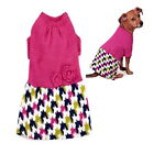 Dog Dress Hot Pink XS S Knitted Chihuahua Pet Clothes Puppy Jumper Sweater Coat