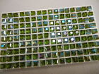 24 swarovski vintage cube shaped crystal beads6mm olivine AB 5601