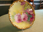 LOVELY LIMOGES HAND PAINTED ROSES Charger 12.5