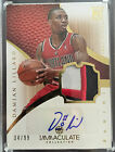 12 13 Panini Immaculate Damian Lillard 3 Color Patch Autograph Rookie Card SN 99