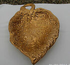Vintage Weeping-Bright Gold Leaf Shaped Dish 22 Kt  Hand Decorated Made in USA