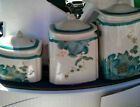 BRAND NEW- 222 FIFTH ELIZA TEAL 3 PCE. CANISTER SET - 3 SIZES - $10 SALE