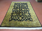 6' X 9' Hand Made Indo PERSIAN Royal Mahal Sarouk Wool Rug Carpet Chrome Wash