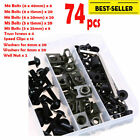 Motorcycle Sportbike Complete Fairing Bolt Kit Body Fasteners Clip Screws Black