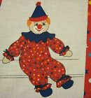 Chuckles the Clown Toy Fabric Panel Cloth Uncut Cloth Cranston Print Works NOS