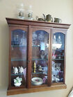 Antique / Vintage Wall Shelf Vitrine with Glass Display Cabinet Nice Top