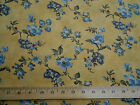 1.25 YDS MODA Quilt Craft Fabric Robyn Pandolph Blue Gold Floral Muted Colors