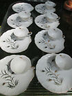 Set 15 Vintage Lefton China Dessert or Snack Trays White with 24k Gold Wheat