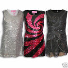 Girls Dress Dance Tunic Sequin Party Dress Last Ones *Bargain * Kids Age 3 4 5 6