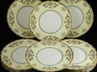 ANTIQUE ROYAL DOULTON SERVICE SCALLOPED DINNER PLATES GOLD ENCRUSTED SET OF12