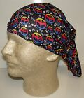 rainbow peace signs chemo therapy hair loss head wrap cover turban scarf wig