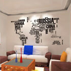 DIY Wall Stickers Letter World Map Quote Removable Art Mural Home Decor