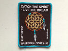WAUPECAN OA LODGE 197 SCOUT SERVICE PATCH GMY STITCH SPRING 1994 CATCH SPIRIT