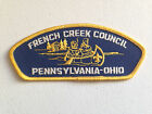 BOY SCOUT BSA CSP COUNCIL PATCH FRENCH CREEK PENNSYLVANIA OHIO YELLOW BLUE