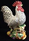 Fitz and Floyd Gardening Gourmet Rooster -- Ceramic Figurine