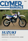 CLYMER Repair Manual for Suzuki DR250 1990-1993, DR250S DR350 DR350S 1990-1994