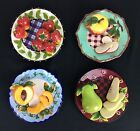 Lot Of 4 Baum Bros.style Eyes 3d Collector Plate Wall Hangings EUC