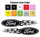 Ford Flame Style Logo Right  Left car decal stickers Choose Size and Color