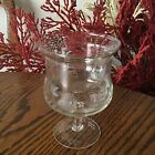 VINTAGE 1960's Etched Crystal Shrimp Cocktail Desert Steam ware from Bulgaria