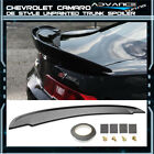 Fits 14 15 Chevy Camaro Flush Mount OE Z28 SS Style Trunk Spoiler Unpainted ABS