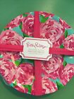 LILLY PULITZER Melamine FIRST IMPRESSION PLATE SET 4 plates Outdoor Dining ~NEW